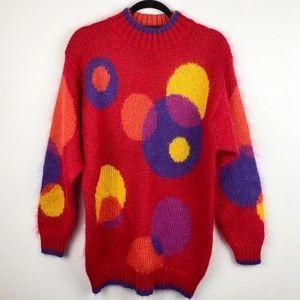 VINTAGE 1990's Funky Fuzzy Sweater Art to Wear